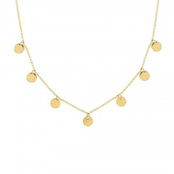 COLLAR MINI MOONS ORO