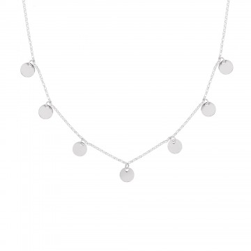 COLLAR MINI MOONS PLATA