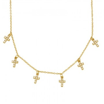 COLLAR MINI CROSS ORO